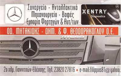 Μητακίδης - Θεοδωράκογλου, Συνεργείο - Ανταλλακτικά, Γιαννιτσά