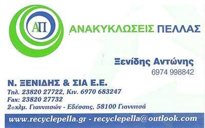 Ανακυκλώσεις Πέλλας Γιαννιτσά