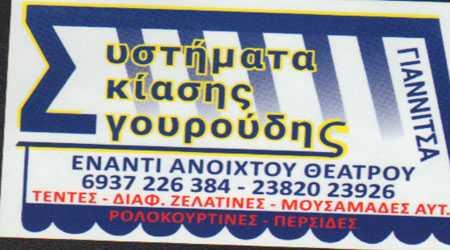 Σγουρούδης Θεόδωρος, Συστήματα σκίασης, Γιαννιτσά