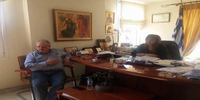 Συνάντηση της Δημάρχου Σκύδρας με τον Αντιπρόεδρο ΕΛ.Γ.Α Αθανάσιο Ζαννιά