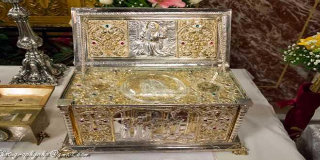 Προσκύνηση ιερού λειψάνου του Οσίου Σεραφείμ του Σαρώφ στον Ιερό Ναό Αγίου Γεωργίου Γιαννιτσών