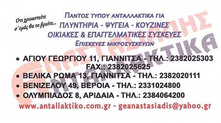 Αναστασιάδης, Ανταλλακτικά Γιαννιτσά