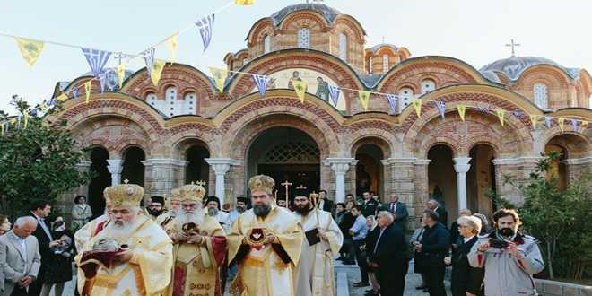 Λαμπρά τα εγκαίνια του Ναού Αγίου Ραφαήλ, της φερώνυμης Ιεράς Μονής της Γρίβας (vid)