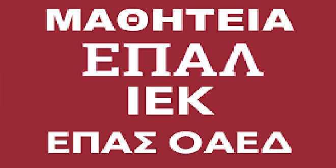 Αποτέλεσμα εικόνας για Πρόσκληση προς τις επιχειρήσεις του Δήμου Αλμωπίας για διάθεση θέσεων Μαθητείας στα ΕΠΑΛ του Υπουργείου Παιδείας, Έρευνας και Θρησκευμάτω