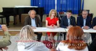 Ο Υφυπουργός Παιδείας Δημήτρης Μπαξεβανάκης στο Μουσικό Σχολείο Γιαννιτσών για το κτιριακό
